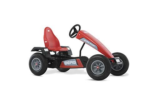 BERG Gokart mit XL-frame Extra Sport Red | Kinderfahrzeug, Tretauto mit verstellbarer Sitz, Mit Freilauf, Kinderspielzeug geeignet für Kinder im Alter ab 5 Jahren