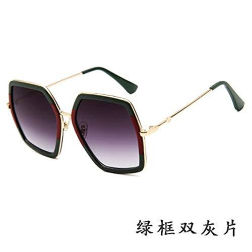 Occhiali da sole Lusso Piazza del progettista Occhiali da sole delle signore di marca oversize di cristallo degli occhiali da sole donne Grande cornice dello specchio Occhiali da sole for il driver