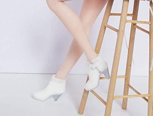 Tytlmask kledingstuk, schaal 1/6, dames-figuur, schoenen met hoge hakken, wit, 12 inch