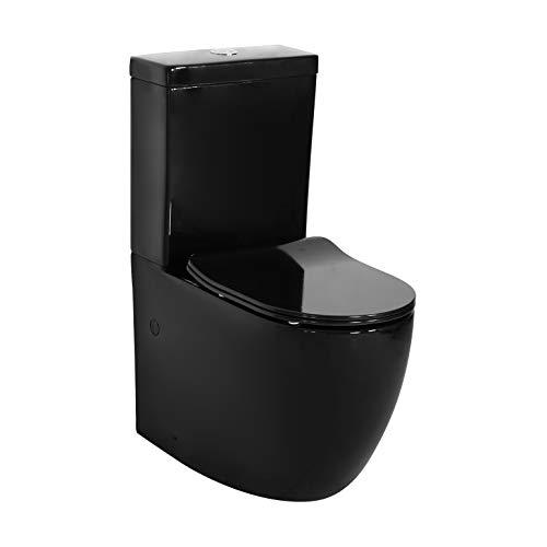 Inodoro BLACK Compacto De Dos Piezas. Diseño Exclusivo y Moderno. Alta gama....