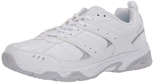 AVIA Women's Training Sneaker, White/Micro Chip/Petit Four/Silver,11 M US