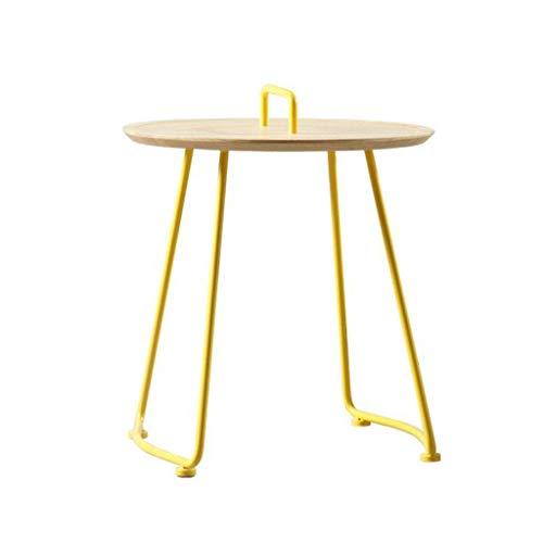 LY88 Nordic Gelbe Tabelle Kreative Couchtisch Haushalt Couchtisch Ecksofa Runden Tisch