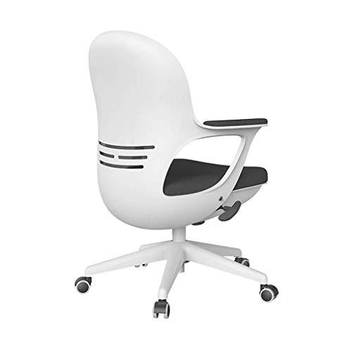 ViewSys Bürostuhl, Computer Stuhl, Haupt Student Studie Schreiben Stuhl Rückenlehne Eggshell Bürostuhl Anwendbar 120~180 cm Höhe 60~75 cm Tischhöhe, weiß, 60 * 60 * 87cm