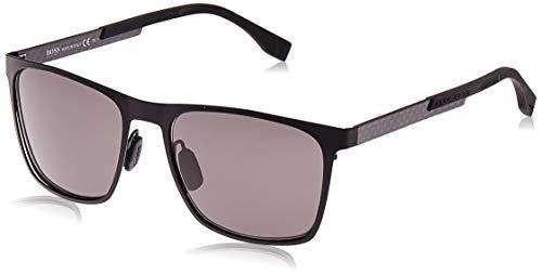 BOSS Orange Hugo BOSS Sonnenbrille BOSS0732/S Herren Rechteckig Sonnenbrille 57, Schwarz