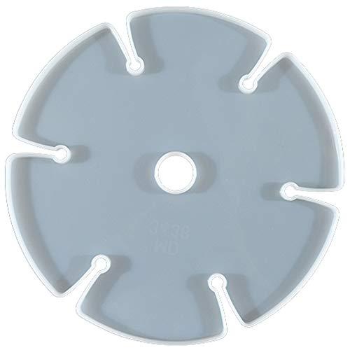 LPOQW Molde de silicona para copa de vino, soporte para posavasos redondo de cristal irregular, bandeja de flores para decoración del hogar, de cristal, color blanco 1