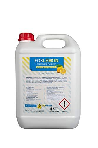 FoxLemon detergente pavimenti - 5 Lt. - Ideale anche in macchine lavapavimenti