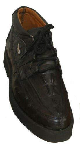 Dona Michi - Zapatos de cordones de tenis occidentales con estampado de cocodrilo/avestruz, beige, 10.5