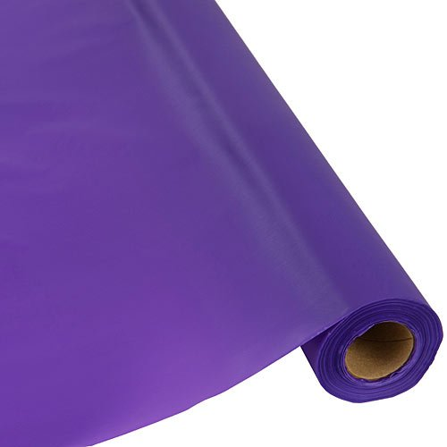 Plastic Party Banquet Table Cover Roll - 300 ft. x 40 in. - Disposable Tablecloth (Purple)