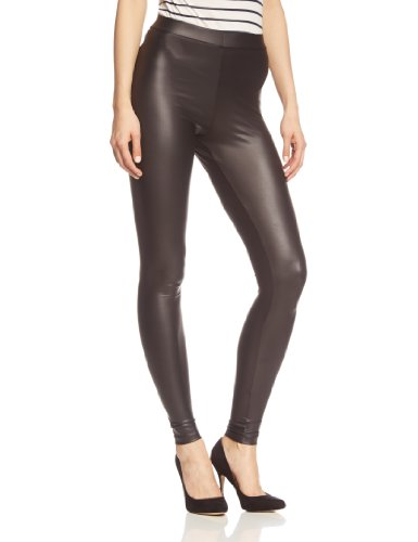 PIECES Damen New Shiny NOOS Leggings, Schwarz (Black Black), 40 (Herstellergröße: L/XL)