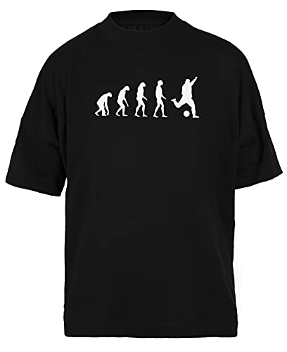 Evolucionado A Tocar Fútbol Negra Camiseta Holgada Unisex Tamaño L Black Baggy tee Tshirt Unisex Size L