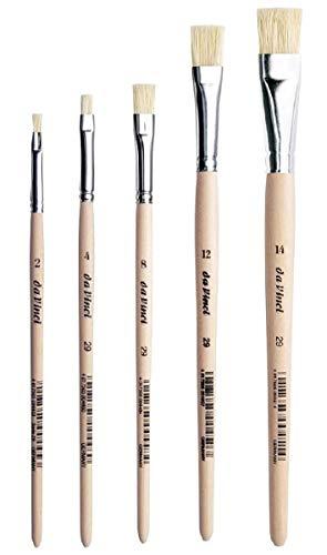 DaVinci ESPACE BEAUX ARTS Da Vinci 29 Serie Flach-Pinsel/Borstenpinsel, chinesisch Borsten, Set 5pcs. Holz,2,4,8,12,14