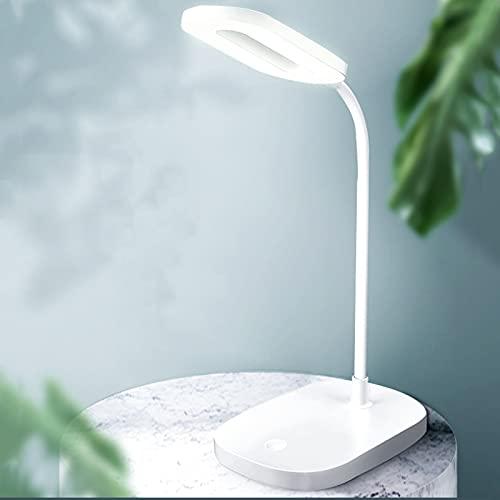 Desk Lamps Lámpara de Escritorio con Puerto de Carga USB, Lámparas de Mesa Pequeñas con Control Táctil de Luz Blanca Cálida Atenuación Continua, Batería de Almacenamiento Incorporada de 800 Mah