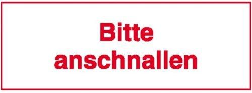4558. Hinweisschild für Kraftfahrzeuge Bitte anschnallen Weich-PVC-Folie, selbstklebend, bedruckt Größe 8,00 cm x 3,00 cm
