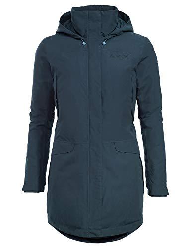 VAUDE Damen Women's Skomer Wool Parka Jacke, Steelblue, 38
