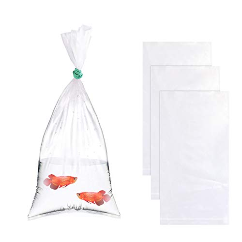 """Newbested 100PCS Plastic Clear Fish Bags,Leak-Proof Shipping Bags,Double Bottom Seal Storing and Transporting Fish Bags for Industrial Healthcare(6""""x12"""",2 Mil)"""
