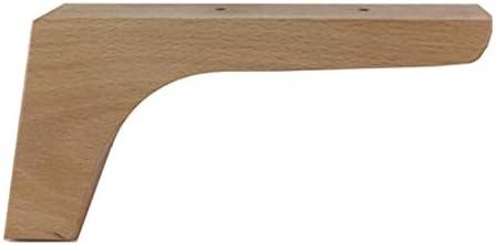 Pack de 4 patas para muebles,12cmts de altura de haya para renovar o elevar muebles, armarios, mesas, sofas con estos pies o piernas (Natural)