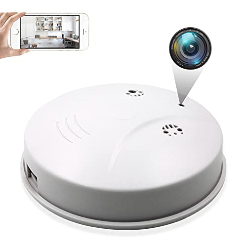 4K Hidden Spy Camera Smoke Detector - Camera HD 1080P Wi-Fi Night Vision/Motion Detection/ Nanny Cam for Indoor Security/Support iOS/Android No Audio
