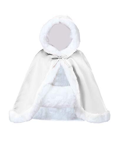 Beautelicate Umhang für Brautkleid, mit Pelz, hüftlang, verschiedene Farben Gr. Einheitsgröße, gebrochenes weiß