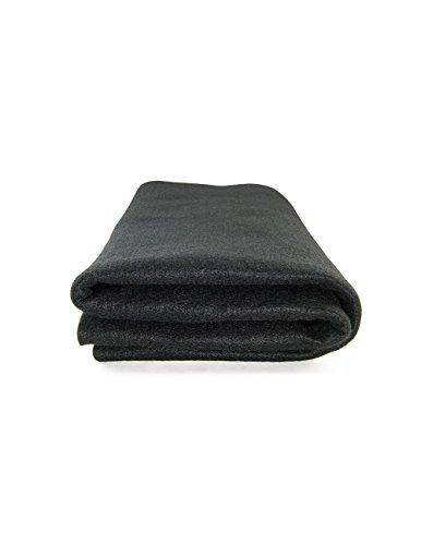 Schweißermatte Unterlage für Handwerker, hitzebeständig, schwarz, ca. 90 x 90 cm