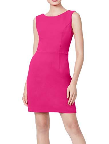 Betsey Johnson Women's Stretch Crepe Dress with Cutout Back, Fuchsia, 12 (Apparel)