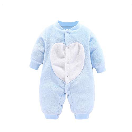Bebé Mamelucos Mono Fleece Pijama Manga Larga Ropa Peleles Abrigo Niños Niñas...
