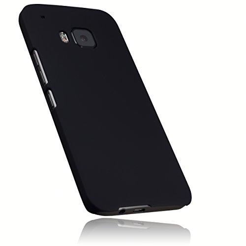 mumbi Hülle kompatibel mit HTC One M9 Handy Hard Case Handyhülle, schwarz