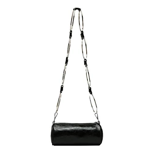 Save %59 Now! Ikevan_ Women Casual Leather Bucket Bag Crossbody Shoulder Bags Circular Chain Handle ...