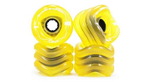 Shark Wheel 72 mm 78a Longboard Wheels | DNA Formula | Transparent Amber (4-Pack)