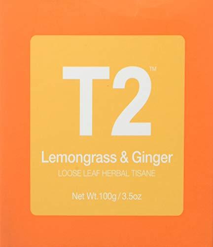 T2 Tea Loose Leaf Herbal in Box, Lemongrass Ginger, 100 Gram