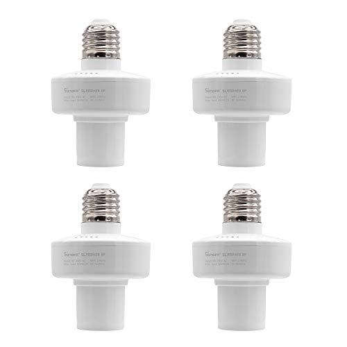 Docooelr Sonoff Slampher RF E27 Lampadina LED Wireless Smart WiFi Presa Timing RF Lavora con Google Home Nest Alexa [4pcs]