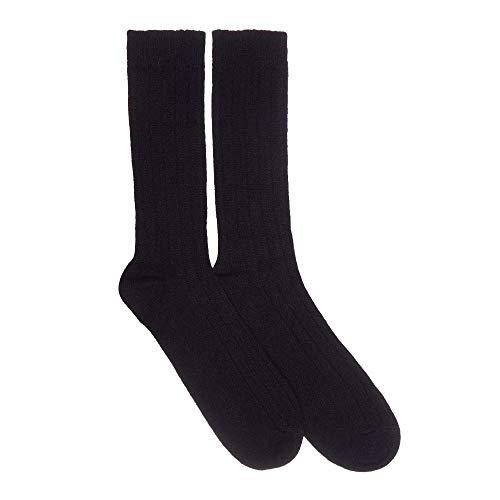 Mens Cashmere Socks, Black M
