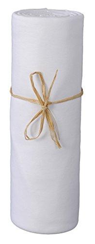 P'tit Basile - Sábanas bajeras Talla : 70 x 140 cm - jersey 100% Algodón bio ecologico color blanco