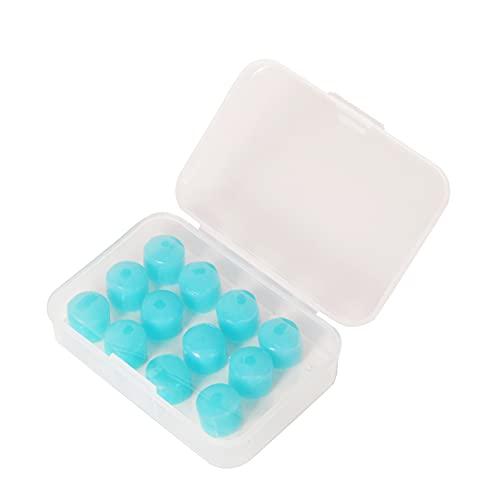 Tapones para los oídos de plástico de silicona suave, tapones para los oídos reutilizables para dormir que reducen el ruido, adecuados para trabajar, estudiar, nadar y viajar (6 pares)