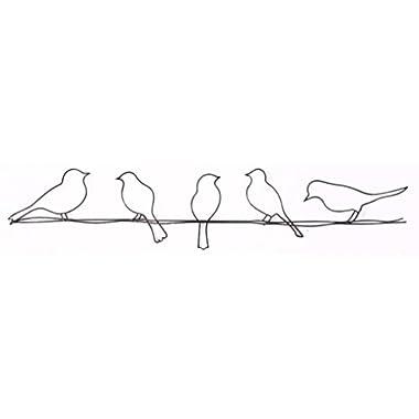 Graham & Brown 41-221 Bird on a Wire Metal Wall Art