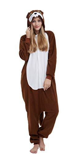 Pijama Onesie Adultos Mujer Cosplay Animal Disfraces Halloween Carnaval Cosume Ardilla M