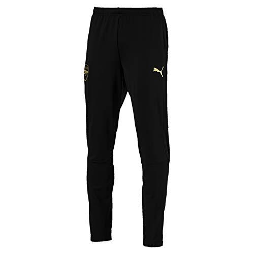 PUMA Heren Arsenal FC met rits pockets joggingbroek, zwart, 3XL