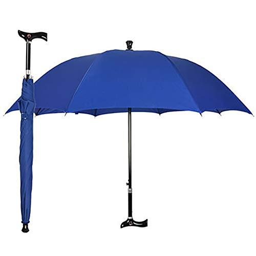 Verstelbare wandelstok paraplu voor ouderen, non-slip wandelstok paraplu, multifunctionele verstelbare wandelstok buiten klimmen paraplu pole, drie kleuren zijn beschikbaar,Blue