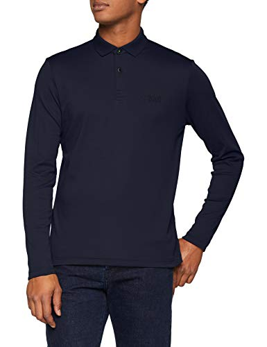 BOSS Herren Regular Fit Poloshirt Pirol, Blau (Navy 410), Large