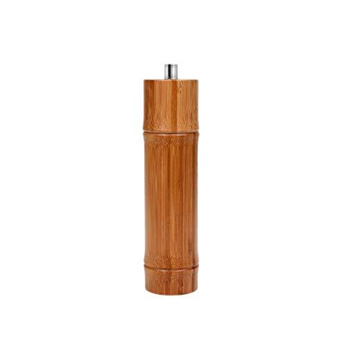 BUTLERS BAMBOO Pfeffermühle Bambus - Gewürzmühle - Höhe 22 cm - Ø 5 cm - Bambusholz - Carbonstahlmahlwerk