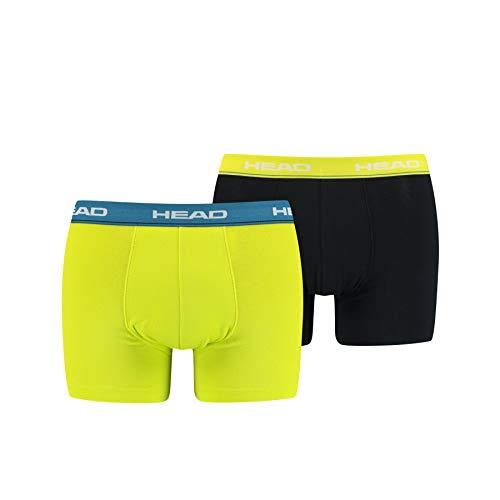 HEAD Herren Basic Boxers Boxer-Shorts, Lime, L