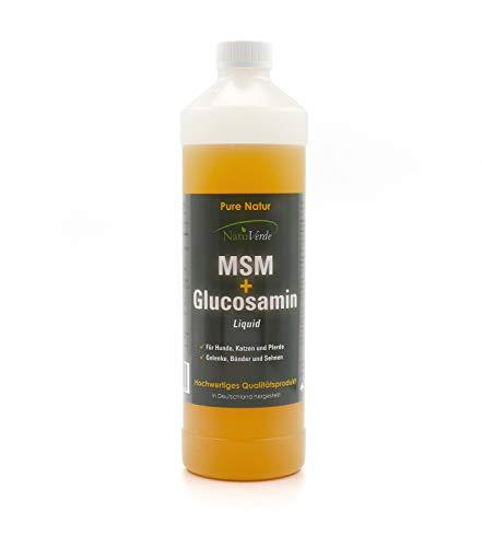 NatuVerde MSM + Glucosamin Liquid, 1l, für Hunde, Katzen und Pferde