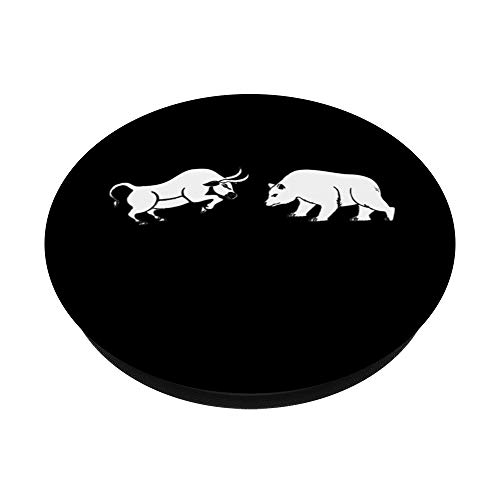 316XOq6MqsL - Bull and Bear Stock Market Forex Trader PopSocket PopSockets PopGrip: Swappable Grip for Phones & Tablets