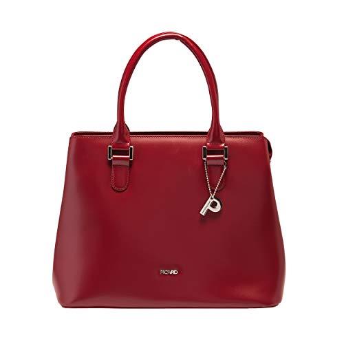 Picard Berlin Handtasche aus Leder mit Schulterriemen, 2 Steckfächer, Reissverschluss, Drehverschluss Henkeltasche 10 Liter 29 x 24 x 15 cm (H/B/T) Damen (5497)