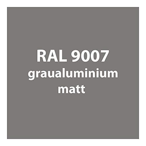 Streichlack Streich Lack Farbe 1K * viele verschiedene Farben - Premium Qualität * 1 Liter (RAL 9007 grau-aluminium matt)