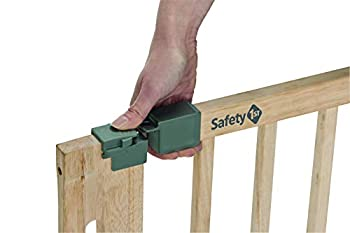 Safety 1st BARRIERE DE SECURITE U PRESSURE EASY CLOSE NATURAL WOOD