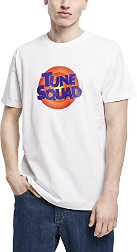 Mister Tee Space Jam Tune Squad Logo tee Camiseta, Blanco, L para Hombre
