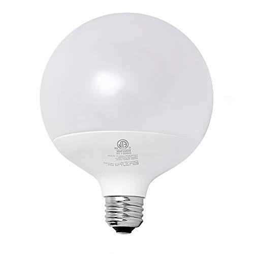 LUXEXPE Globe Light Bulbs, G120 Outdoor 18 Watt (150W-200W Equivalent) Edison Style LED Globe Lights, Daylight 5000k, E26 Socket Decorative Lights, Non-Dimmable, for Street Garage Light Replacement