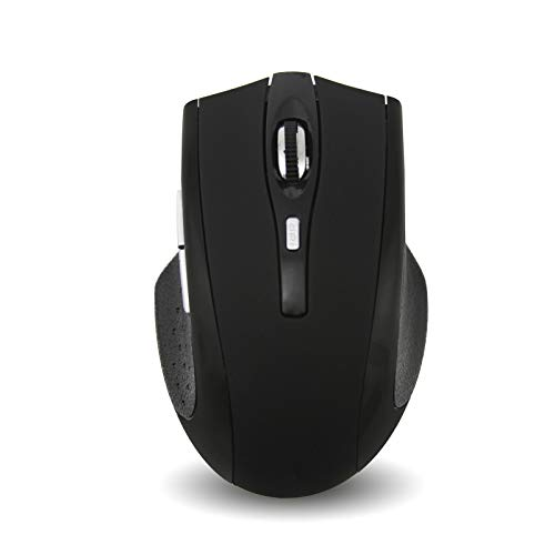 Bluetooth Wireless Mouse,Rechargeable Silent Mouse 16000 DPI 6 Buttons Mice for Notebook PC Laptop Computer Windows/Android Tablet/Microsoft/MacBook Pro (Black 2)