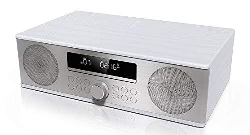 SHARP XL-B715D (WH) Zertifiziertes All In One Soundsystem mit UKW Radio und Bluetooth, USB, DAB/DAB+, CD, Bluetooth-Out, 90W