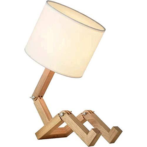 ECSWP TVDCC Luces de Mesa en Forma de Robot para salón Lámparas de Mesa de Madera Flexibles Lámparas de Trabajo Lámparas de decoración Interior